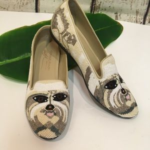 Donald J Pliner Dog Beaded Italy Shoes 6 M